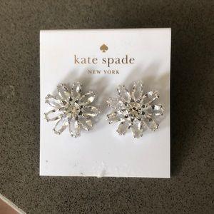 NWT Kate Spade floral burst crystal earrings